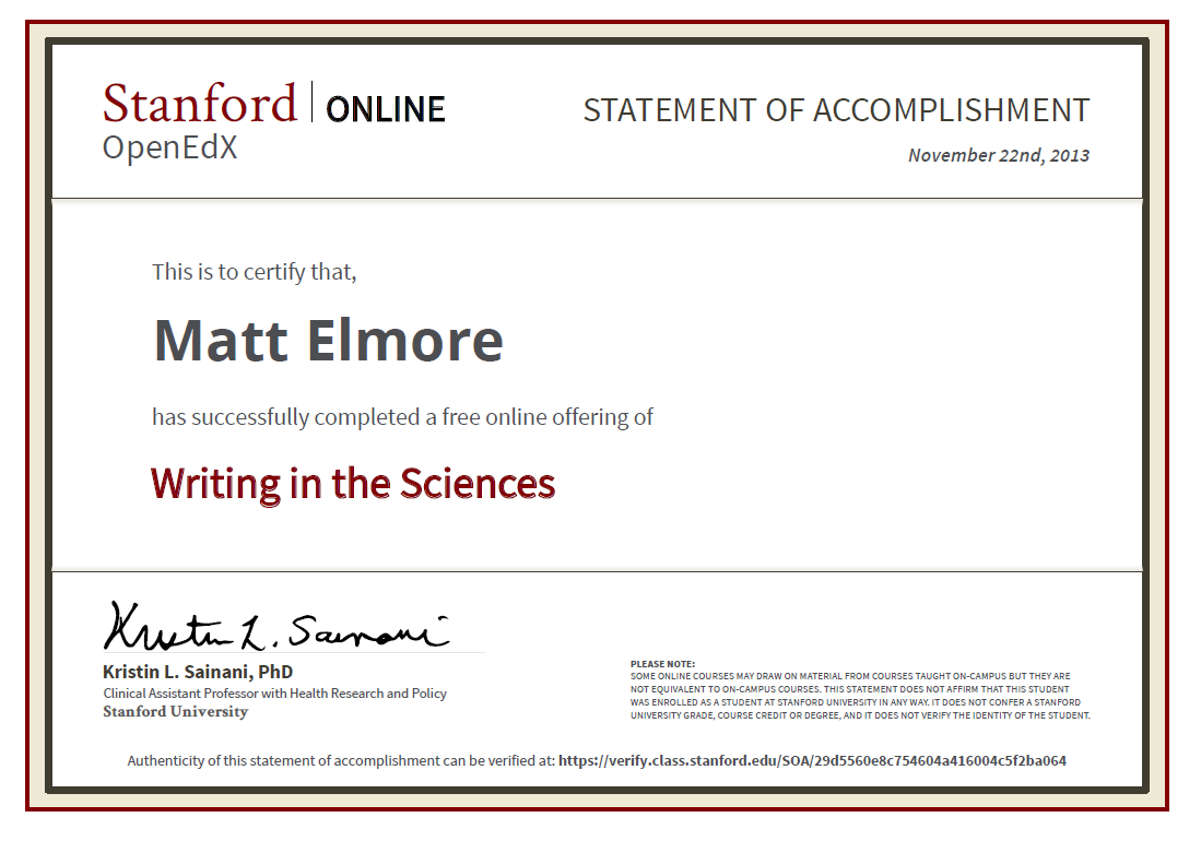 Stanford writing